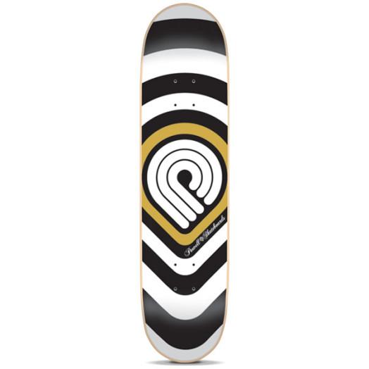 Powell Gold Strobe Skateboard Deck - 7.625 x 31.625