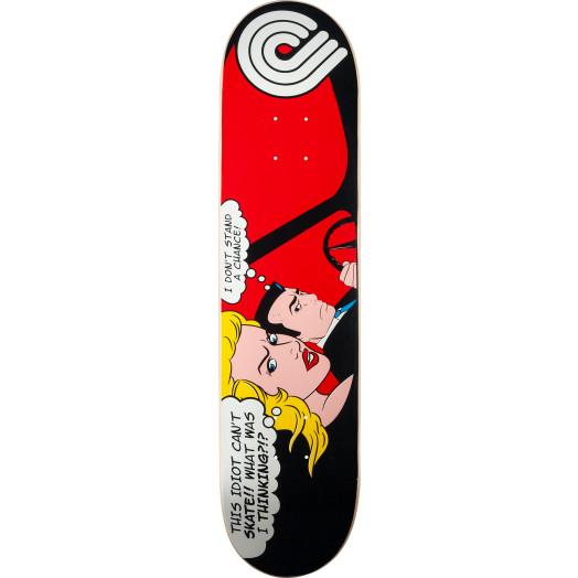 Powell Pop Art Skateboard Deck Red - 7.625 x 31.5
