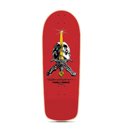 Powell Peralta Ray Bones Rodriguez Reissue Skateboard Deck Red - 10 x 28.625