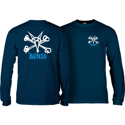 Powell Peralta Rat Bones L/S T-shirt Navy