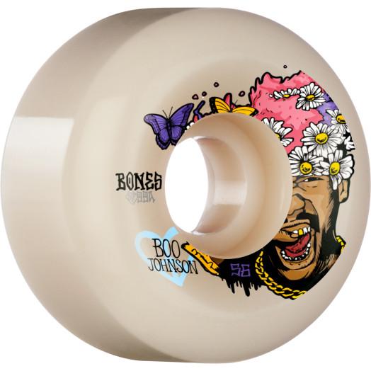 BONES WHEELS PRO STF Skateboard Wheels Boo Just Have Fun 56mm V6 Wide-Cut 99a 4pk
