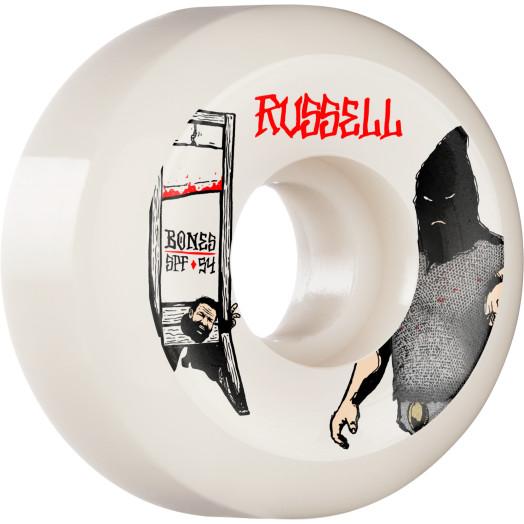 BONES WHEELS PRO SPF Skateboard Wheels Russell Executioner 54mm P5 Sidecut 84B 4pk