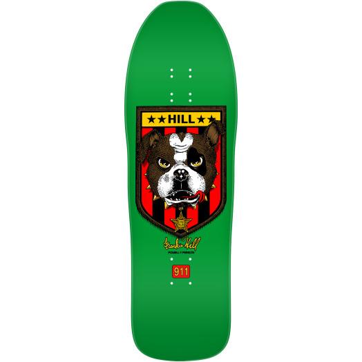 Powell Peralta Frankie Hill Bulldog Skateboard Deck Green - 10 X 31.5