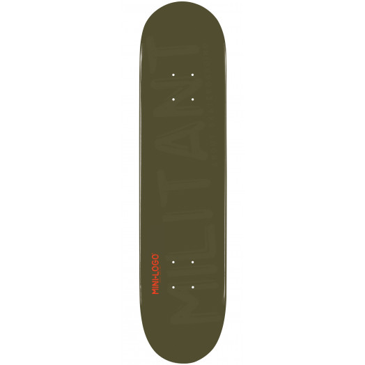 Mini Logo Militant Skateboard Deck 124 Green - 7.5 x 31.375