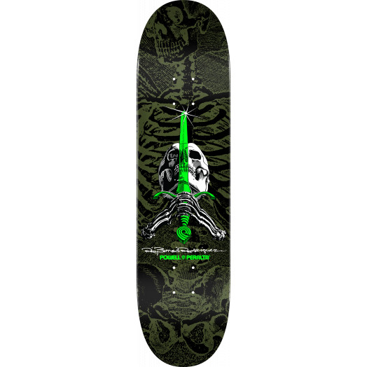 "Powell Peralta Skateboard Complete Skull and Sword Green 8.25/"" x 31.95/"""