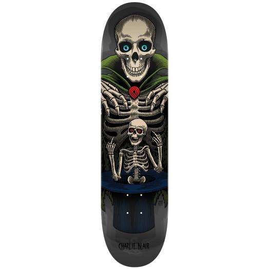 Powell Peralta Pro Charlie Blair Magician Blem Skateboard Deck Gray - Shape 244- 8.5 x 32.08