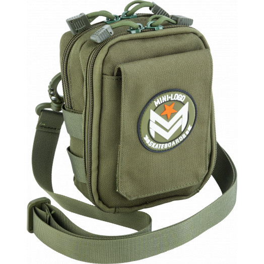 "Mini logo Shoulder Bag Army Green 7"" x 5"""