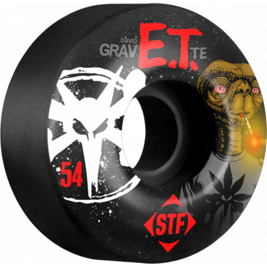 BONES WHEELS STF Pro Gravette Burn ET 54mm wheels 4pk Black