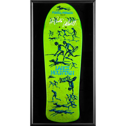 Bones Brigade Shadowbox Mountain BLEM Deck Signed by GAP/Stacy