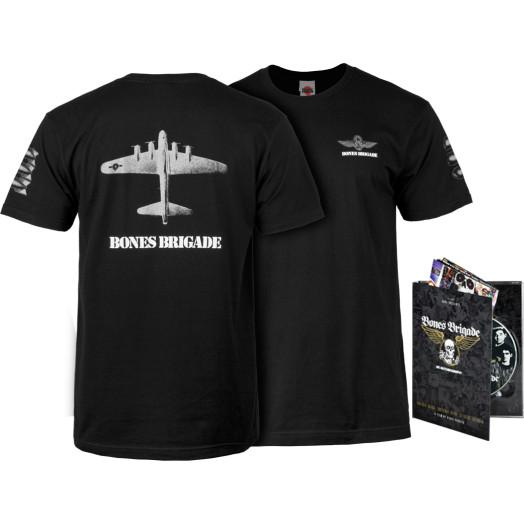 BONES BRIGADE: An Autobiography Blu-Ray/DVD + Black Bomber T-Shirt Combo