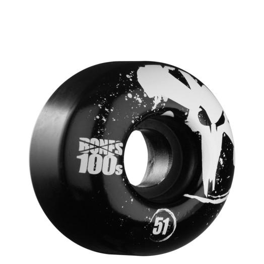BONES WHEELS OG 100s 51mm - Black (4 pack)
