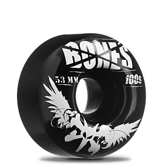 BONES WHEELS 100 Black 53/100a (4 pack)