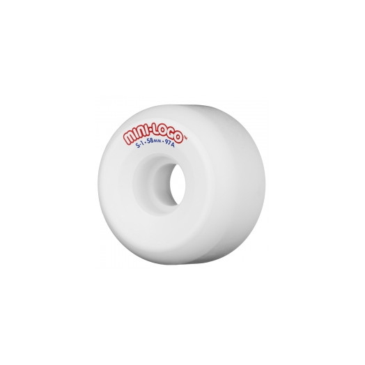 Mini Logo S-1 58mm 97a - White (4 pack)