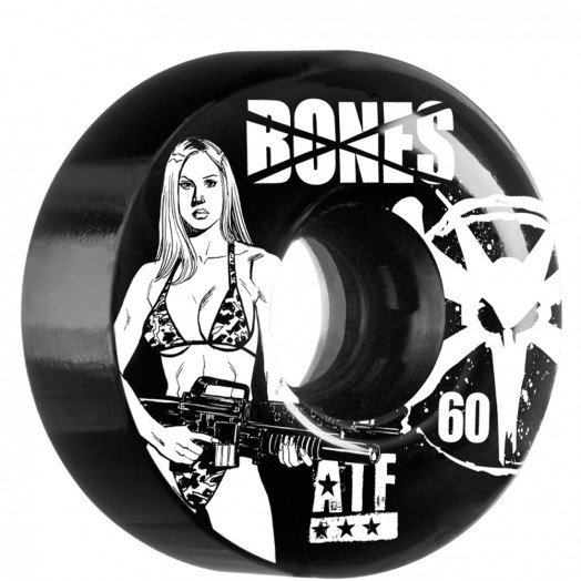 BONES WHEELS ATF Bikini Girl 60mm - Black (4 pack)