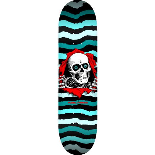 Powell Peralta Ripper Skateboard Deck Turquoise - Shape 248 - 8.25 x 31.95