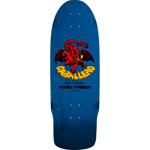 Bones Brigade® Steve Caballero Dragon Reissue Skateboard Deck Blue - 10 x 29.75