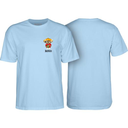 BONES WHEELS Weedy T-shirt Blue