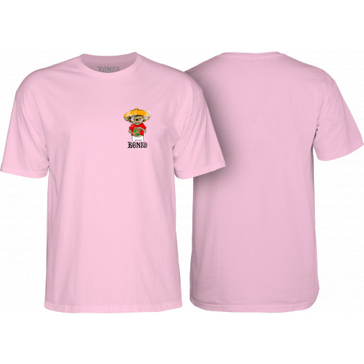 BONES WHEELS Weedy T-shirt Pink