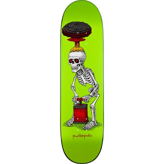 Powell Peralta Explode Lime Skateboard Deck - 8.38 x 31.7