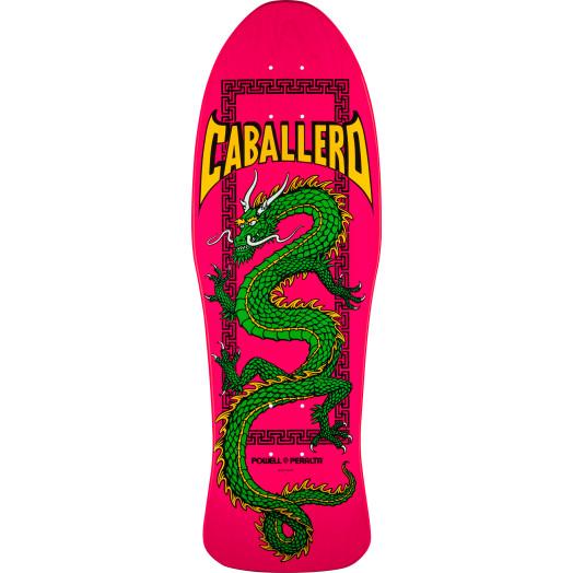 Powell Peralta Caballero Chinese Dragon Skateboard Blem Deck Pink - 10 x 30