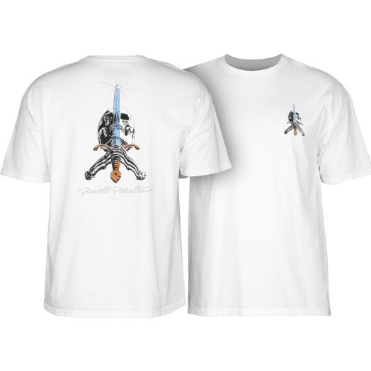 Powell Peralta Skull & Sword T-shirt - White