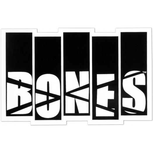 BONES WHEELS Flag Sticker Single