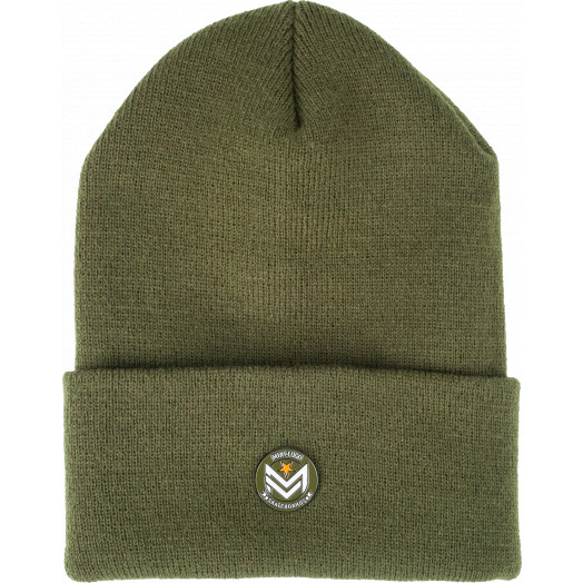 Mini Logo Beanie w/Chevron Pin Army Green
