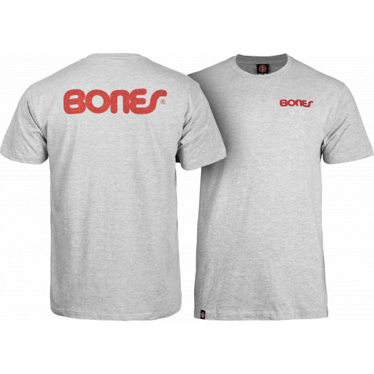 Bones® Bearings Swiss Text T-shirt - Gray