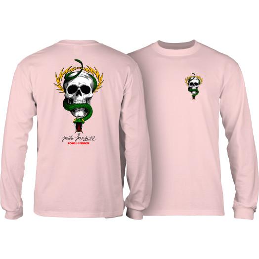 Powell Peralta Skull & Snake L/S Shirt Lt. Pink