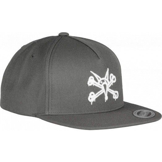 Powell Peralta Vato Rat Snap Back Cap Gray