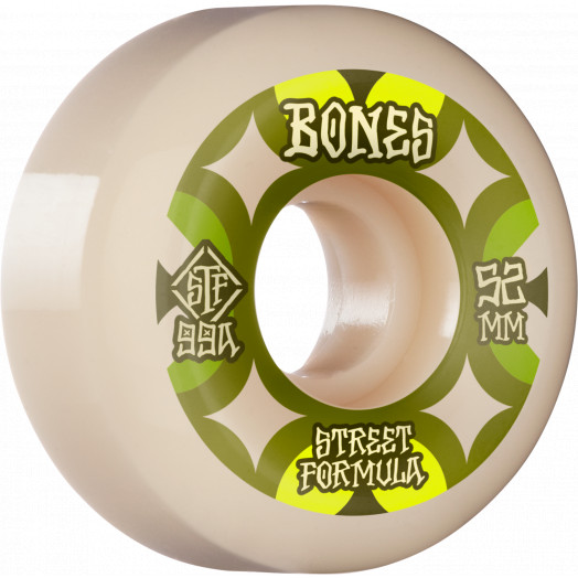 BONES WHEELS STF Skateboard Wheels Retros 52 V5 Sidecut 99A 4pk