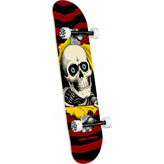 Powell Peralta Ripper One Off Burgundy Complete Skateboard - 7.5 x 30.7