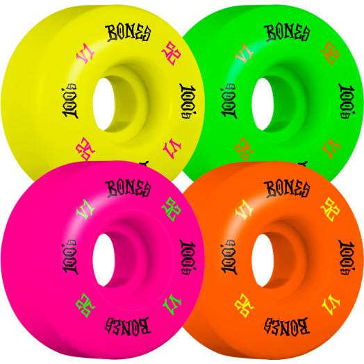 BONES WHEELS 100's Party Pack #4 OG Formula Skateboard Wheel 52mm 100A 4pk Multi