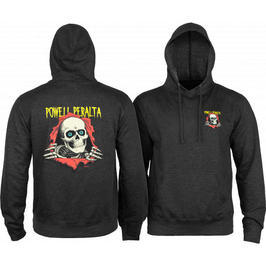 Powell Peralta Classic Ripper Lightweight Hooded Sweatshirt Charcoal