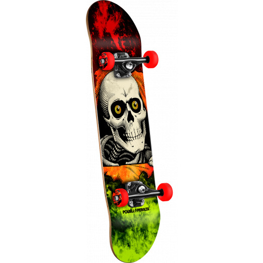 Powell Peralta Ripper Storm Complete Skateboard Red/Lime - 8 x 32.125