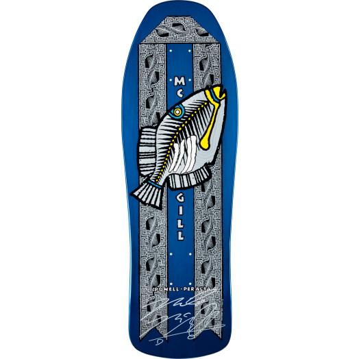 Bones Brigade McGill 8th Series Fish Signed BLEM Skateboard Deck