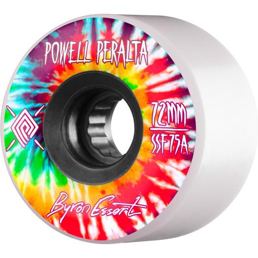 Powell Peralta Byron Essert Skateboard Wheels 72mm 75A 4pk White