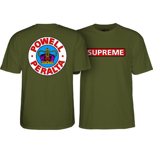 Powell Peralta Supreme T-Shirt - Military Green