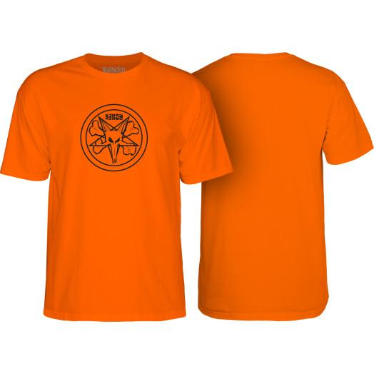 BONES WHEELS Pentagram T-shirt Orange