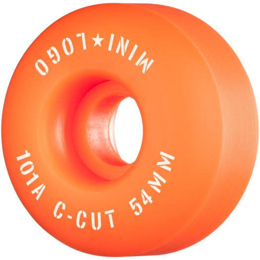 "Mini Logo Skateboard Wheels C-cut ""2"" 54mm 101A Orange 4pk"