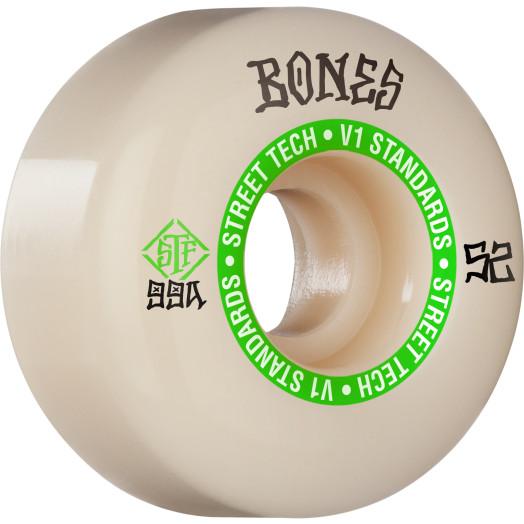 BONES WHEELS STF Skateboard Wheels Ninety-Nines 52mm V1 Standard 99a 4pk