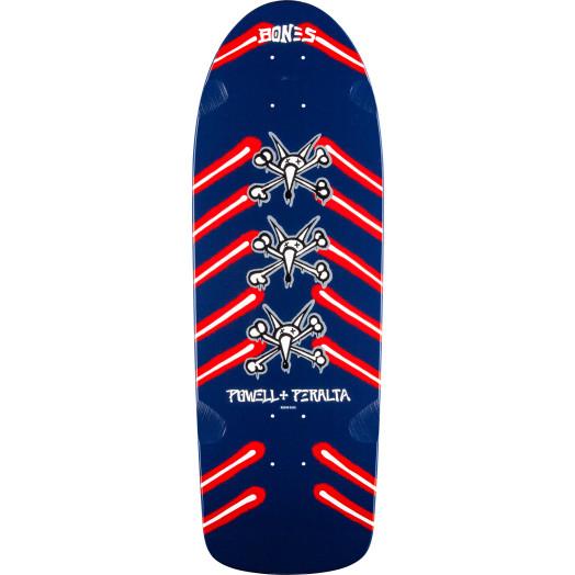 Powell Peralta Rat Bones Skateboard Blem Deck Navy - 10 x 30