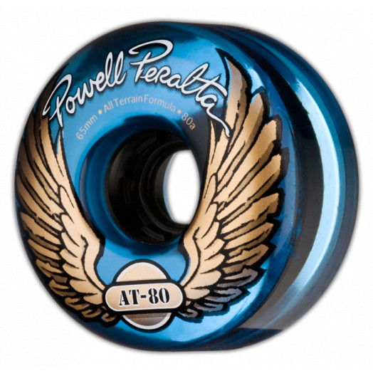 Powell Peralta AT-80 65mm 80a - Clear Blue (4 pack)