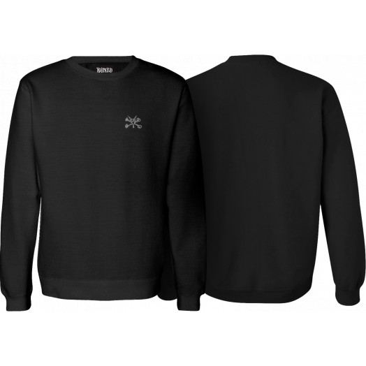 BONES WHEELS Jim Crew Sweatshirt Black