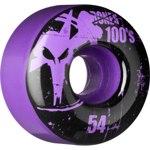 BONES WHEELS 100 Slims 54mm - Purple (4 pack)