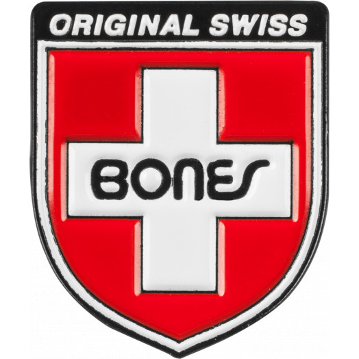 Bones Bearings Swiss Shield Lapel Pin