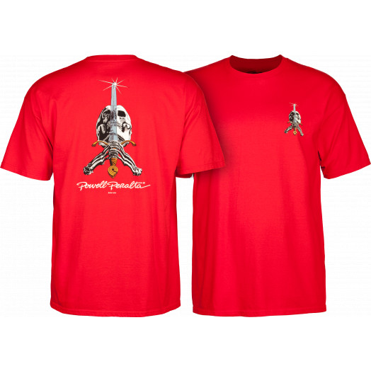 Powell Peralta Skull & Sword T-shirt - Red
