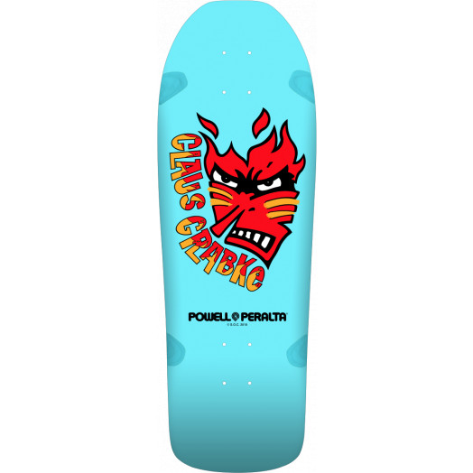 Powell Peralta Claus Grabke Skateboard Deck Aqua - Shape 287 SP0 - 10.25 x 30.5