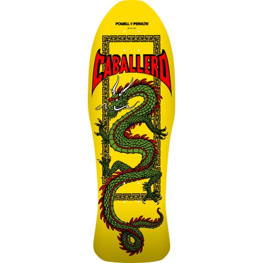 Powell Peralta Pro Steve Caballero Chinese Dragon Blem Skateboard Deck Yellow - 10 x 30