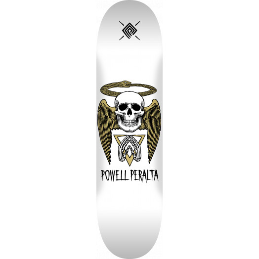 Powell Peralta Halo Snake Skateboard Deck White - Shape 244 - 8.5 x 32